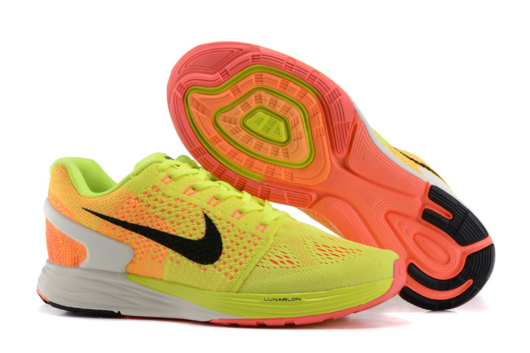 Men's Nike LunarGlide 7 Yellow/Orange - Click Image to Close