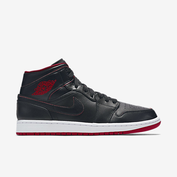 Air Jordan 1 Mid Black/White/Gym Red/Black