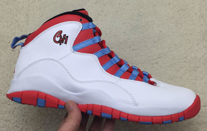 Air Jordan 10 Retro Blue red / white
