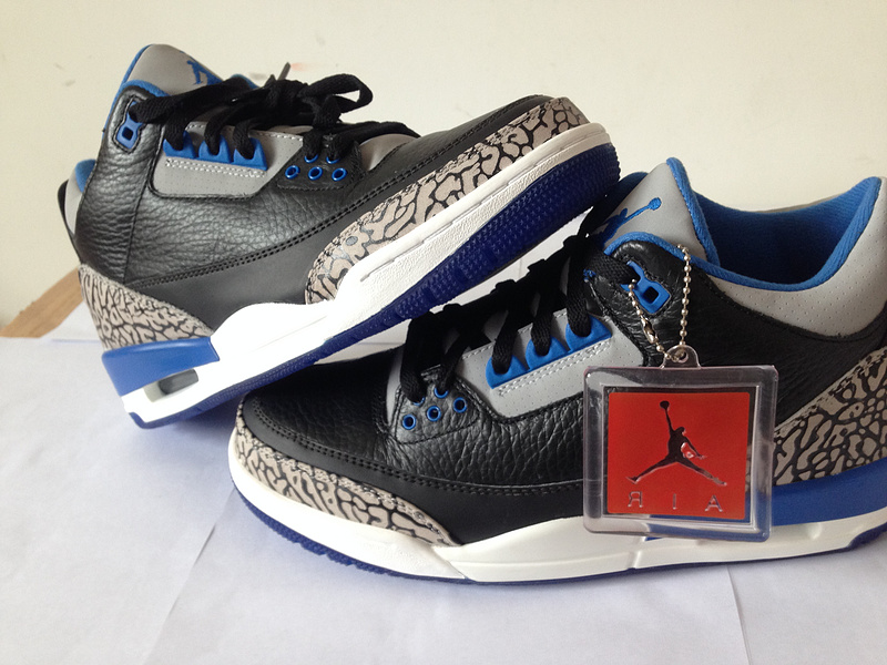 Air Jordan 3 Low Blue/White/Black