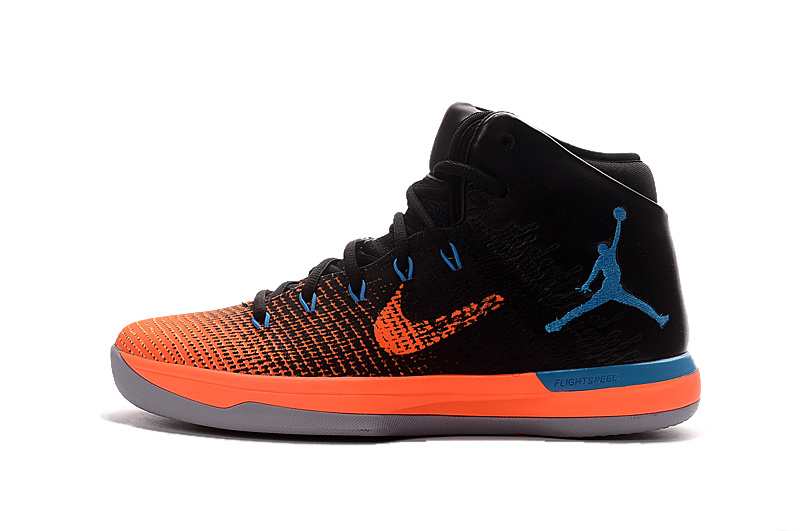 Air Jordan XXXI Black/Blue/Orangered