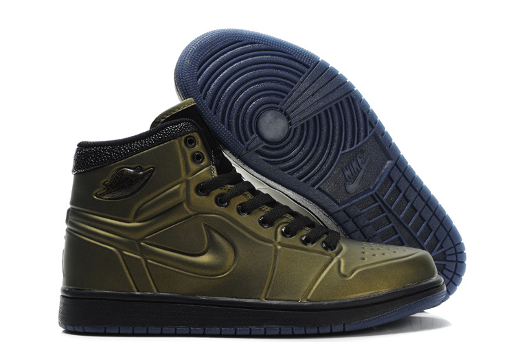 Jordan Retro 1 High Golden/black/navy