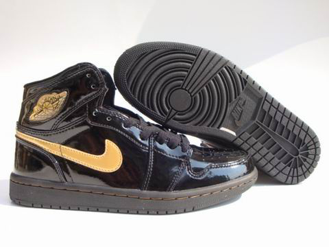 Jordan 1 Shoes black/khaki