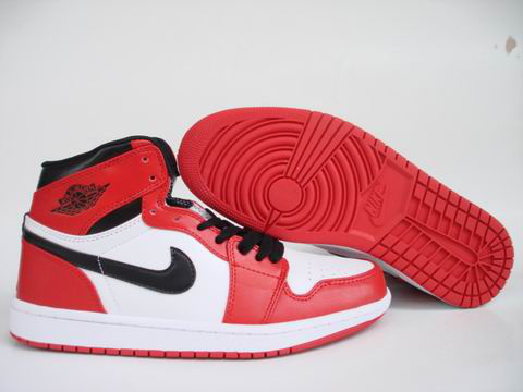 Jordan 1 Shoes black/white/red IV