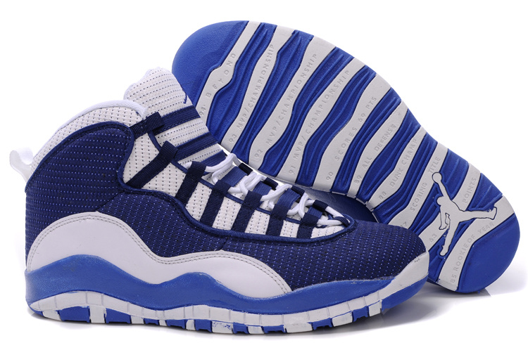 Jordan 10 Shoes black/white/blue