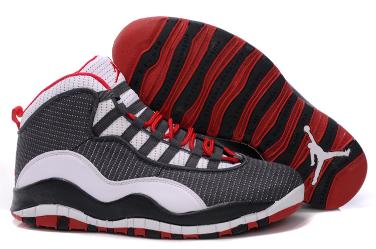 Jordan 10 Shoes black/white/red