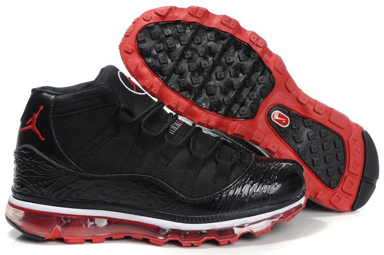 Jordan 11 Air Max Fusion black/white/red