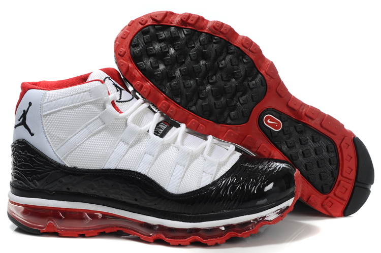 Jordan 11 Air Max Fusion black/white/red II