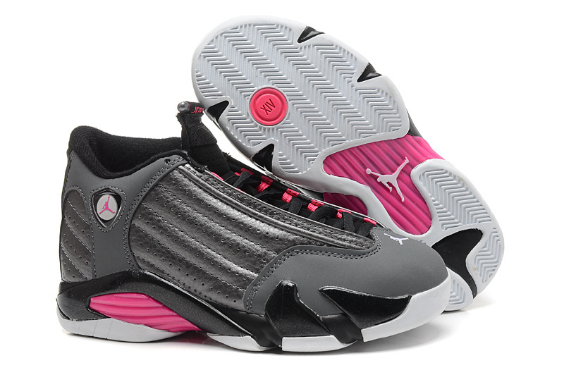 Air Jordan 14 Retro black/gray/deeppink