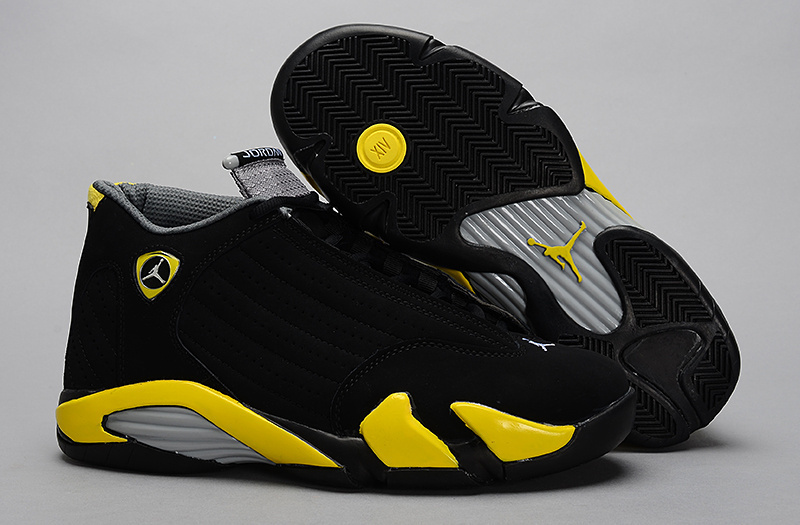 Air Jordan 14 Retro black/gray/yellow