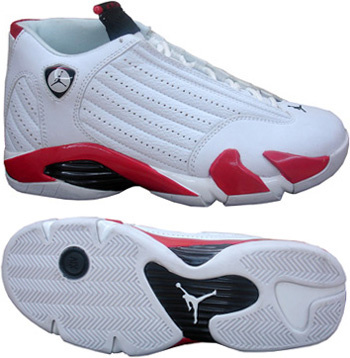 Jordan 14 Shoes black/white/red