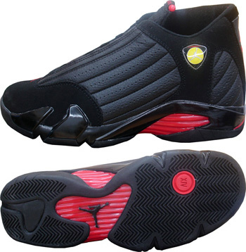 Jordan 14 Shoes black/red