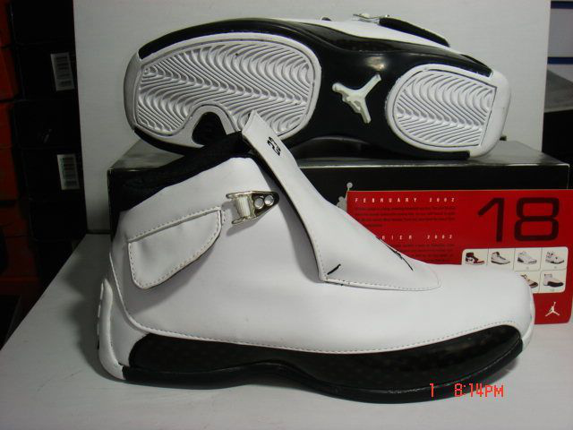 Jordan 18 Shoes white/black