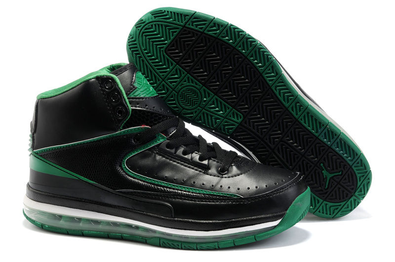 Jordan Retro 2 black/white/darkgreen
