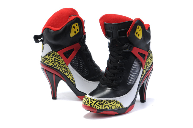Air Jordan 3.5 High Heels Shoes black/red/gold
