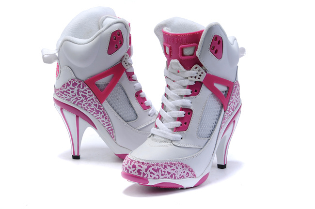 Air Jordan 3.5 High Heels Shoes deeppink/white