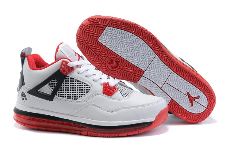 Jordan 4 Air Cushion black/white/red