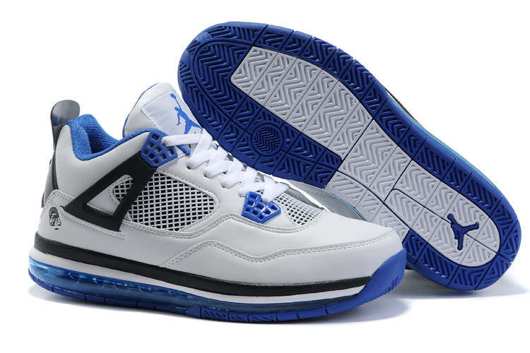 Jordan 4 Air Cushion black/white/blue