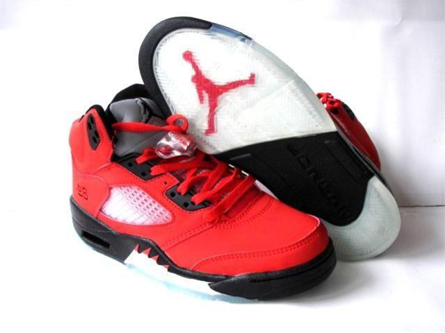 Jordan Retro 5 white/black/red II