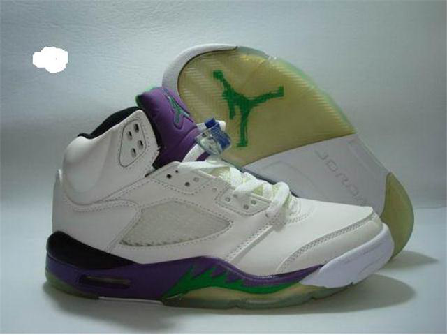 Jordan Retro 5 white/green/blueviolet
