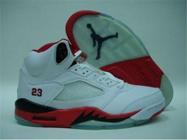 Jordan Retro 5 white/black/red III