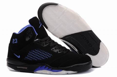 Jordan Retro 5 white/black/blue