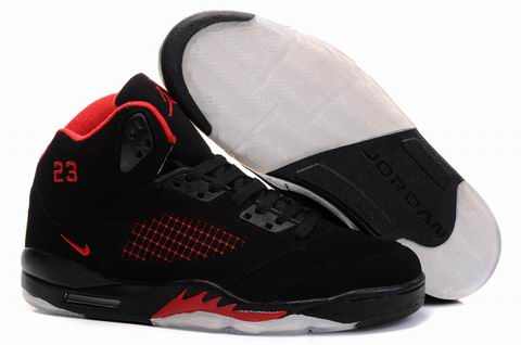 Jordan Retro 5 white/black/red V