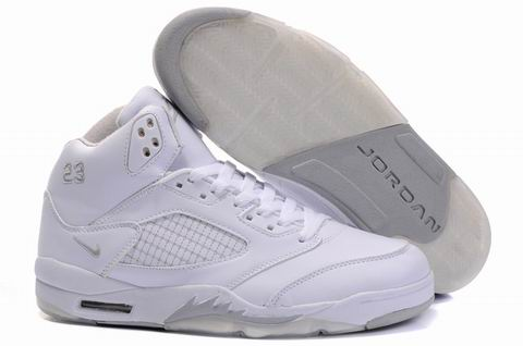 Jordan Retro 5 white/gray