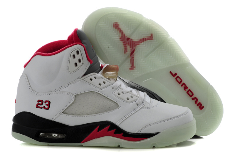 Jordan Retro 5 white/black/red VII