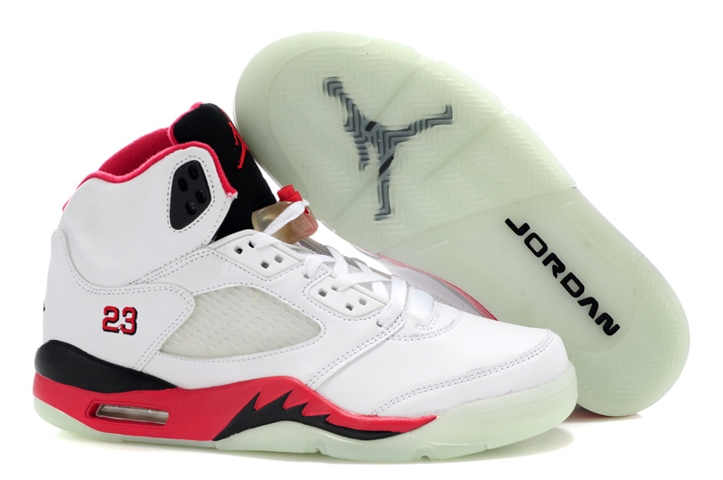 Jordan Retro 5 white/black/red IX