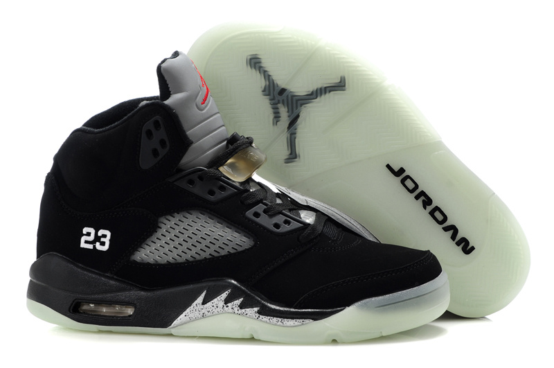 Jordan Retro 5 white/black/gray