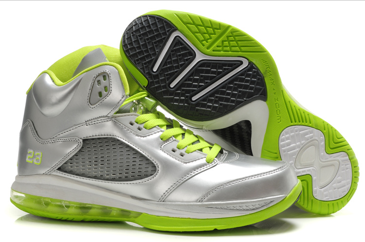 Air Jordan 5.0 gray/lawngreen