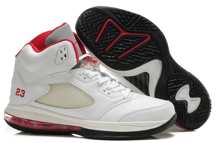 Air Jordan 5.0 white/black/red