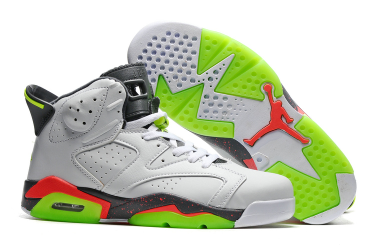 Air Jordan 6 Retro white/red/lawngreen