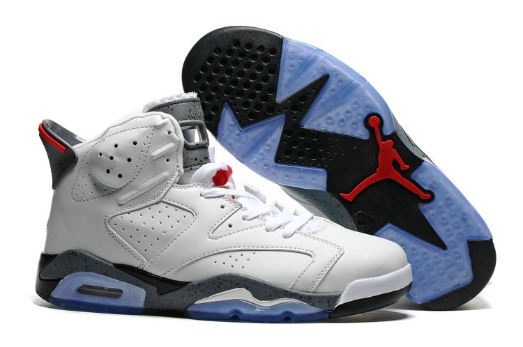 Air Jordan Retro 6 white/gray/black