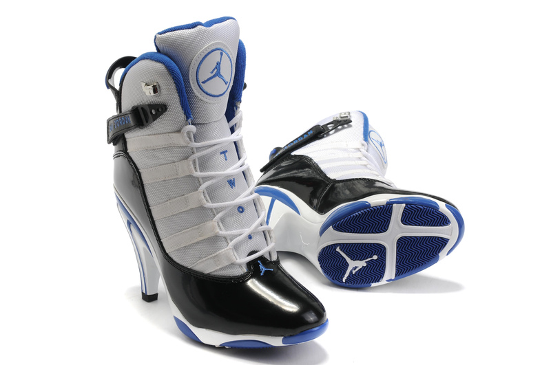 Jordan 6 Rings High Heels black/blue/white