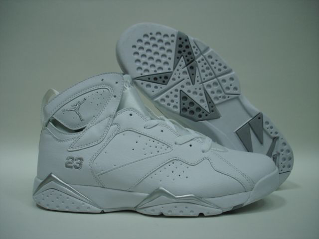 Jordan 7 Shoes white/gray