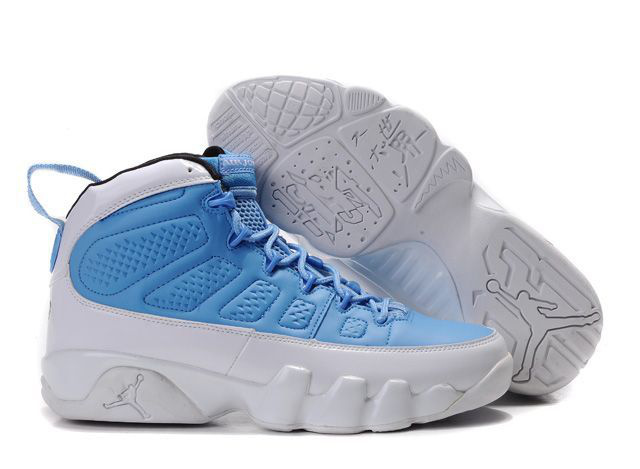 Jordan 9 Retro white/dodgerblue