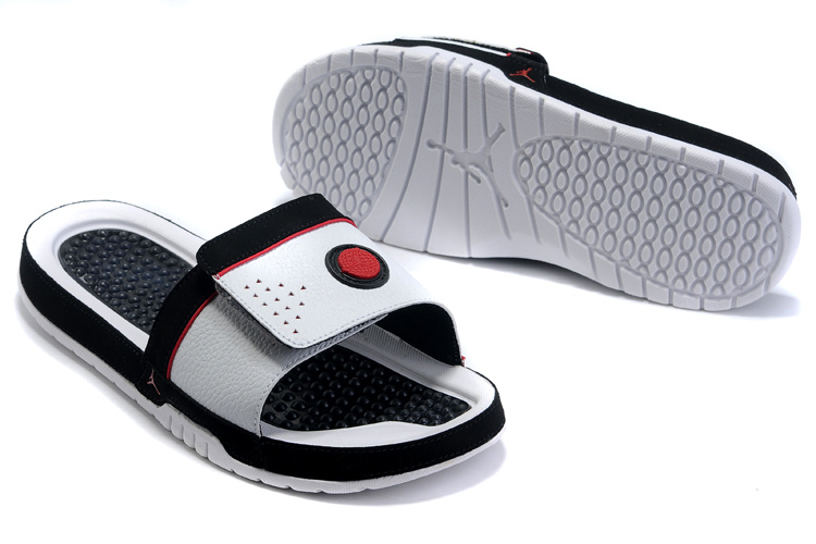 Jordan Hydro 9 Sandals black/white/red
