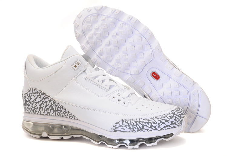 Jordan 3 Air Max white/gray