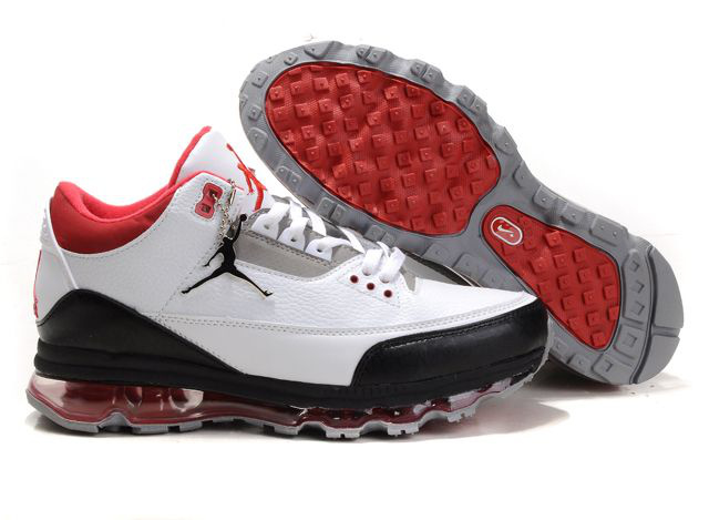Jordan 3 Air Max black/white/red V