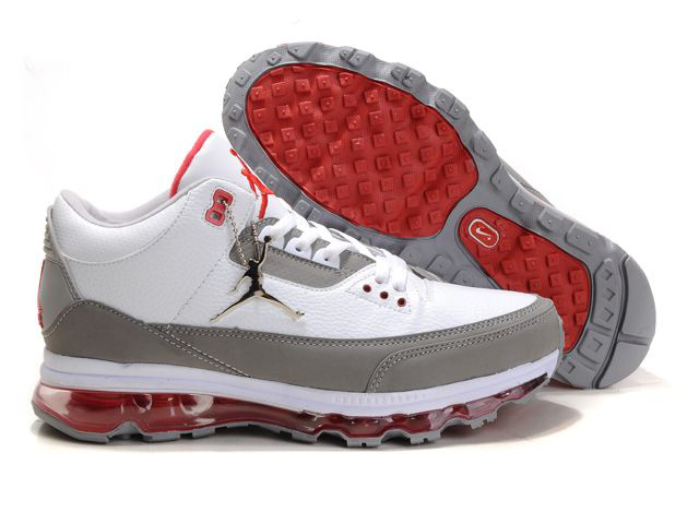 Jordan 3 Air Max white/gray/red