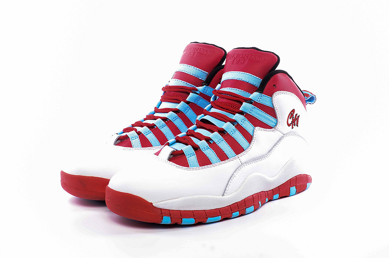 Air Jordan 10 Retro White/University Blue/Black/Light Crimson