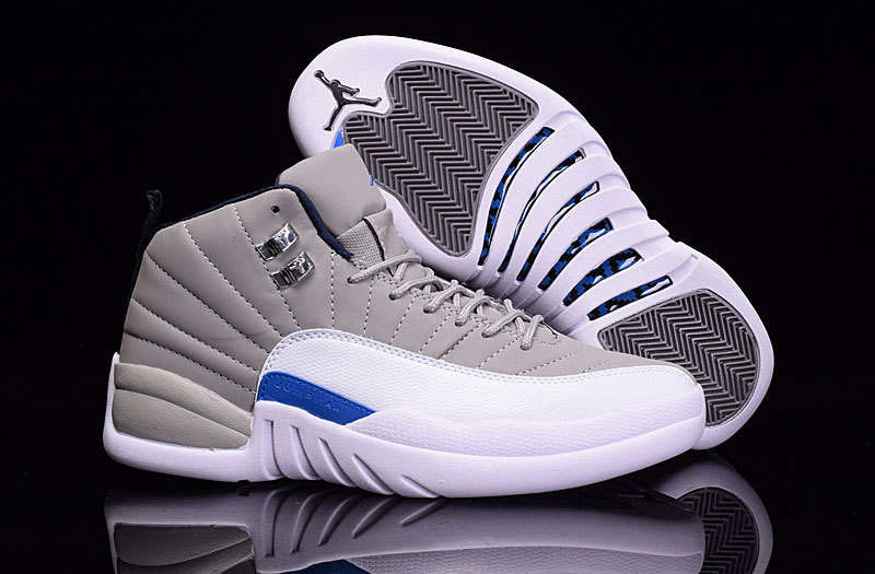 Air Jordan Retro 12 white/blue/gray