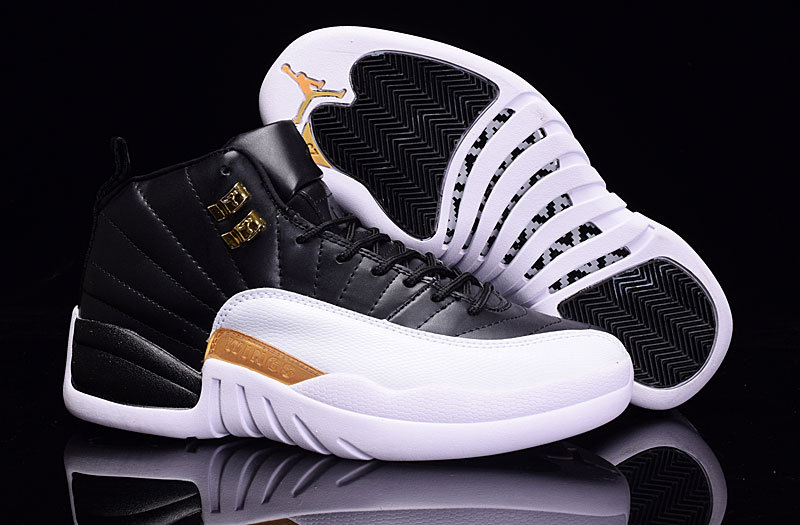 Air Jordan Retro 12 white/black/golden