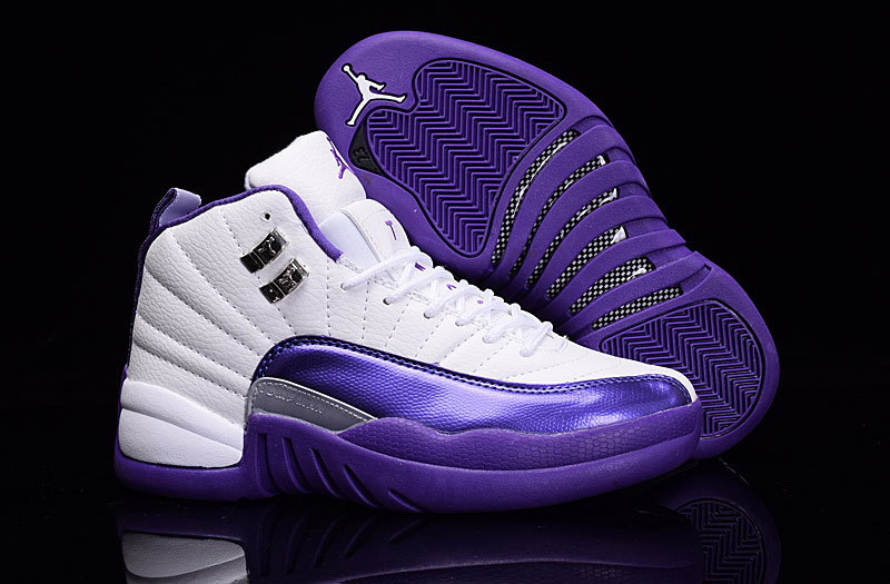Air Jordan Retro 12 White/Purple Amethyst