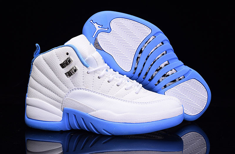 Air Jordan Retro 12 White/Dodger Blue