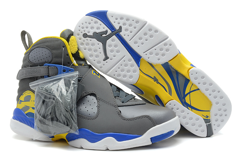 Air Jordan Retro 8 gray/yellow/blue