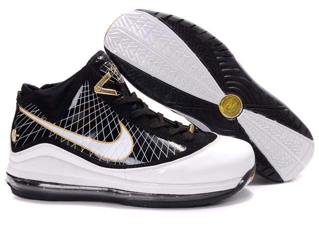Nike Lebron 7 white/black/golden