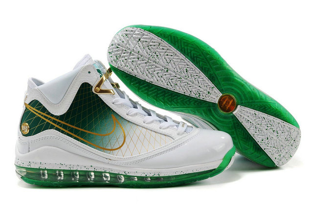 Nike Lebron 7 white/green/golden